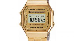 Casio Ηλεκτρονικό Χρυσό Bracelet A-168WG-9EF. Βρείτε το στο Ατόφιο στον Κορυδαλλό.