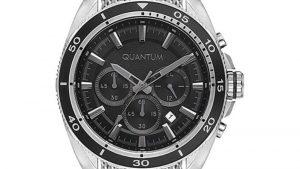 Ρολόι QUANTUM Adrenaline Chronograph ADG665.350 με μπρασελέ πλεκτό και μαύρο καντράν. Βρείτε το στο Ατόφιο στον Κορυδαλλό.