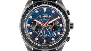 Ρολόι QUANTUM Mens Dual Time ADG842.099 με δερμάτινο λουράκι μπλε και μπλε καντράν. Βρείτε το στο Ατόφιο στον Κορυδαλλό.