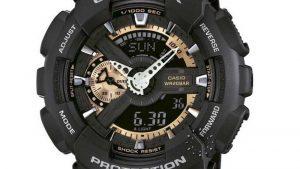Casio G-Shock Μαύρο με μαύρο Λουράκι GA-110RG-1AER. Βρείτε το στο Ατόφιο στον Κορυδαλλό.