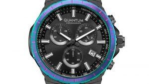 Ρολόι QUANTUM Mens Chronograph HNG813.650 με μαύρο μπρασελέ και μαύρο καντράν. Βρείτε το στο Ατόφιο στον Κορυδαλλό.