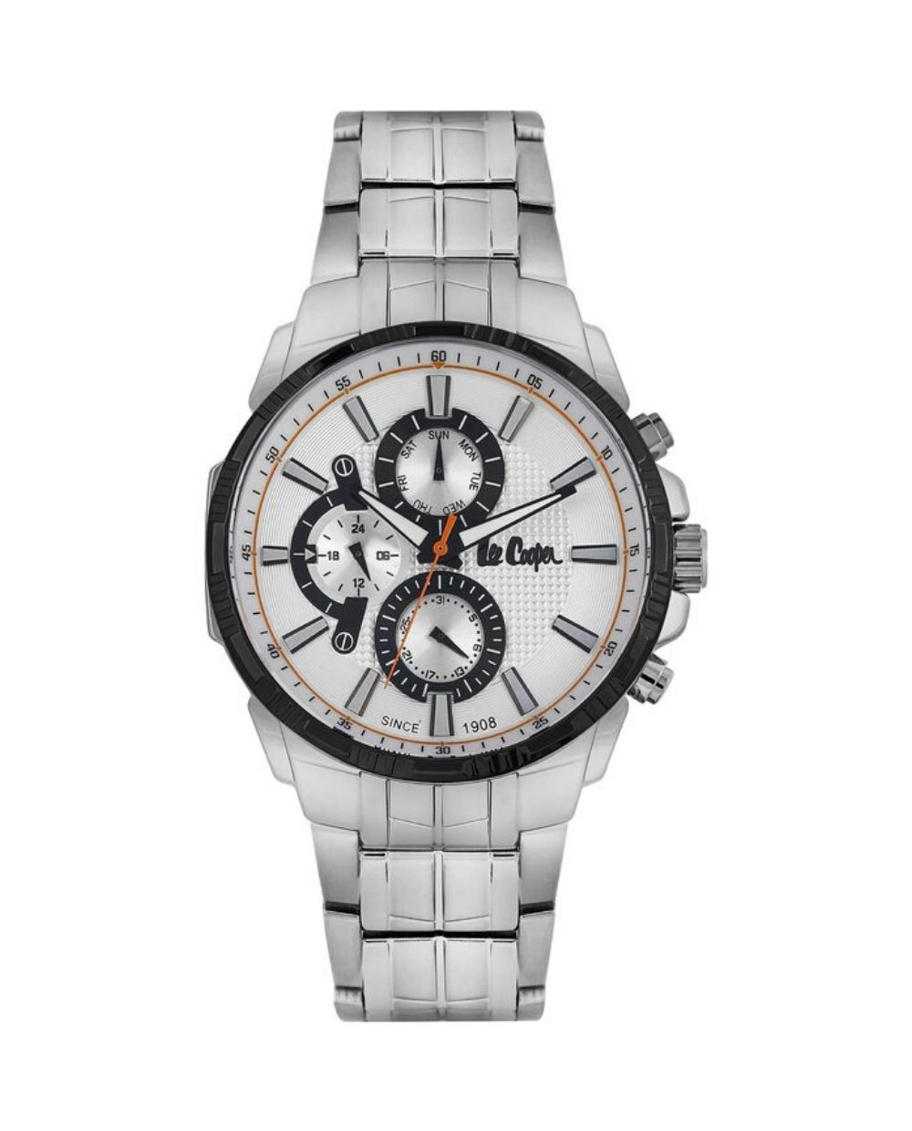 LEE COOPER Mens Dual Time LC06511.630 Silver Bracelet Find it at Atofio in Korydallos.