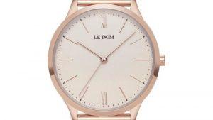 Ρολόι LE DOM Classic Rose Gold LD.1000-20 με bracelet πλεκτο, ροζ χρυσό. Βρείτε το στο Ατόφιο στον Κορυδαλλό.