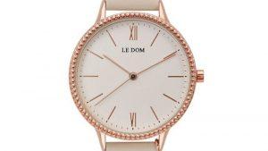 Ρολόι LE DOM Anchor Beige LD.1261-3 με μπεζ λουράκι. Βρείτε το στο Ατόφιο στον Κορυδαλλό.