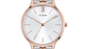 Ρολόι LE DOM Essence LD.1275-1 δίχρωμο ασημί ροζ με bracelet. Βρείτε το στο Ατόφιο στον Κορυδαλλό.