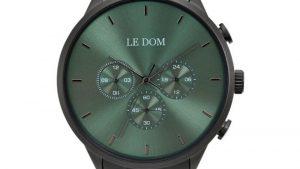 Ρολόι LE DOM Principal LD.1436-4 με μαύρο bracelet και πράσινο καντράν. Βρείτε το στο Ατόφιο στον Κορυδαλλό.