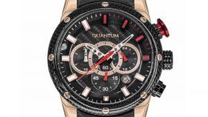 Ρολόι QUANTUM Powertech Men's Chrono PWG532.851 με δερμάτινο λουρί μαύρο και μαύρο καντράν. Βρείτε το στο Ατόφιο στον Κορυδαλλό.