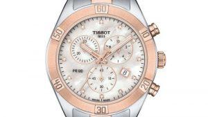 TISSOT T-Classic PR-100 Sport Chic Diamonds Chronograph Two Tone Stainless Steel Bracelet T1019172211600 δίχρωμο ασημί-ροζ χρυσό, με μπρασελέ. Βρείτε το στο Ατόφιο στον Κορυδαλλό.