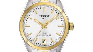 TISSOT T-Classic PR-100 Powermatic 80 Two Tone Stainless Steel Bracelet T1012072203100 δίχρωμο ασημί-χρυσό με μπρασελέ. Βρείτε το στο Ατόφιο στον Κορυδαλλό.
