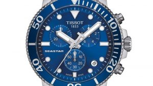TISSOT T-Sport Seastar 1000 Chronograph Silver Stainless Steel Bracelet T1204171104100 με μπρασελέ από ανοξείδωτο ατσάλι. Βρείτε το στο Ατόφιο στον Κορυδαλλό.