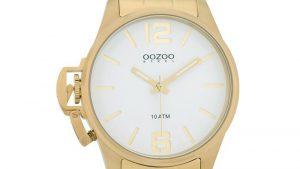 OOZOO OSGR02 με Χρυσό Bracelet και Λευκό Καντράν. Βρείτε το στο Ατόφιο στον Κορυδαλλό.