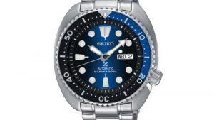 SEIKO SRPC25k1 PROSPEX DIVER'S PADI με ασγημί μπρασελέ και μπλε μαύρο καντράν. Βρείτε το στο Ατόφιο στον Κορυδαλλό.
