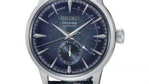 Seiko Presage SSA361J1 Automatic Special Edition με δερμάτινο μπλε λουράκι και μπλε καντράν. Βρείτε το στο Ατόφιο στον Κορυδαλλό.