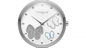 Vogue Women's Watch 812482 with thin bracelet and butterflies on the dial. Find it at Atofio in Korydallos.