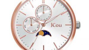 JCou Callisto JU19034-1 Δίχρωμο Ασημί Ροζ Με Bracelet. Βρείτε το στο Ατόφιο στον Κορυδαλλό.